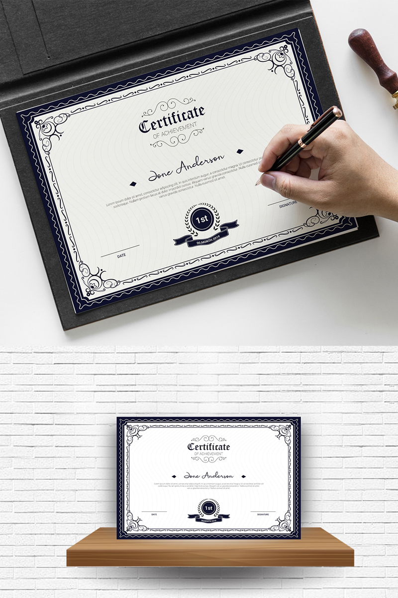 Anderson Achievement Template de Certificado №84105