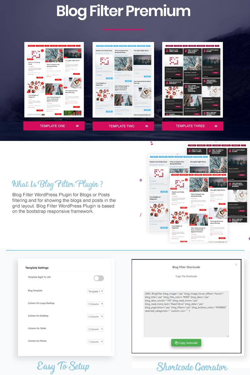 Blog Filter WordPress Plugin - screenshot