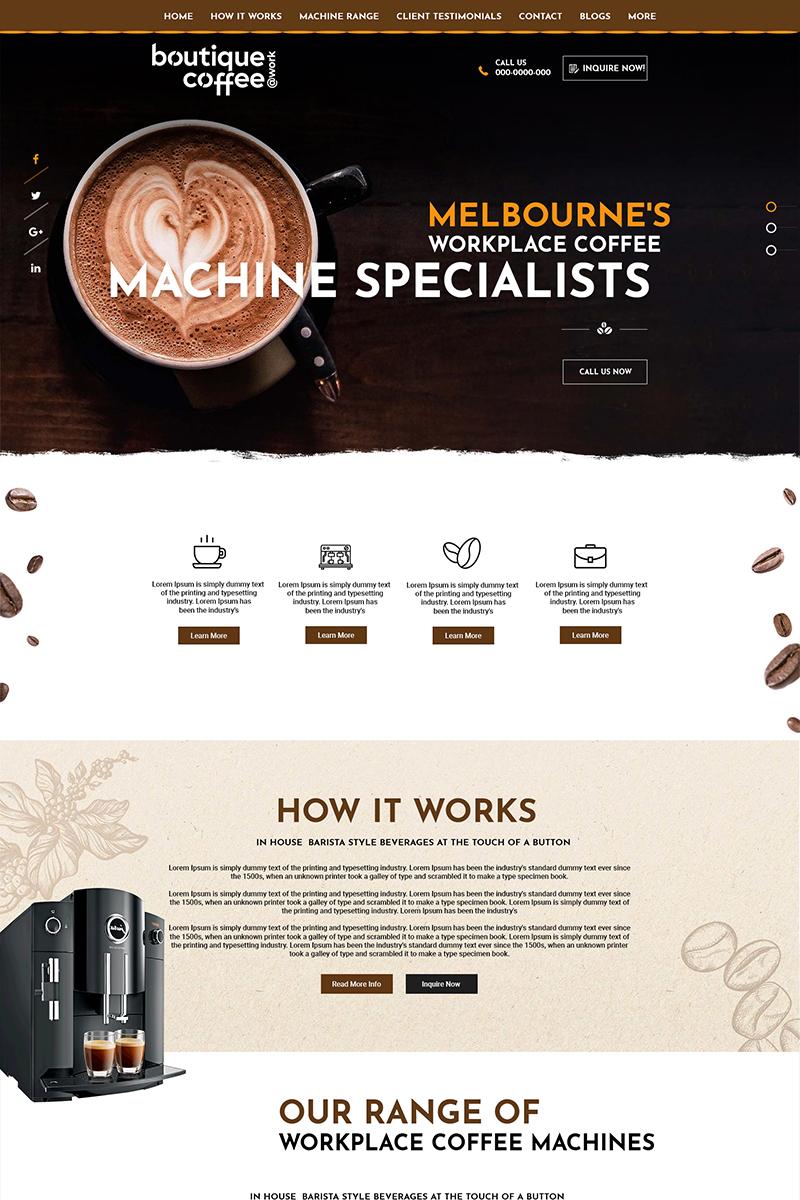 """Boutique Coffee - Coffee Shop"" PSD模板 #84147"