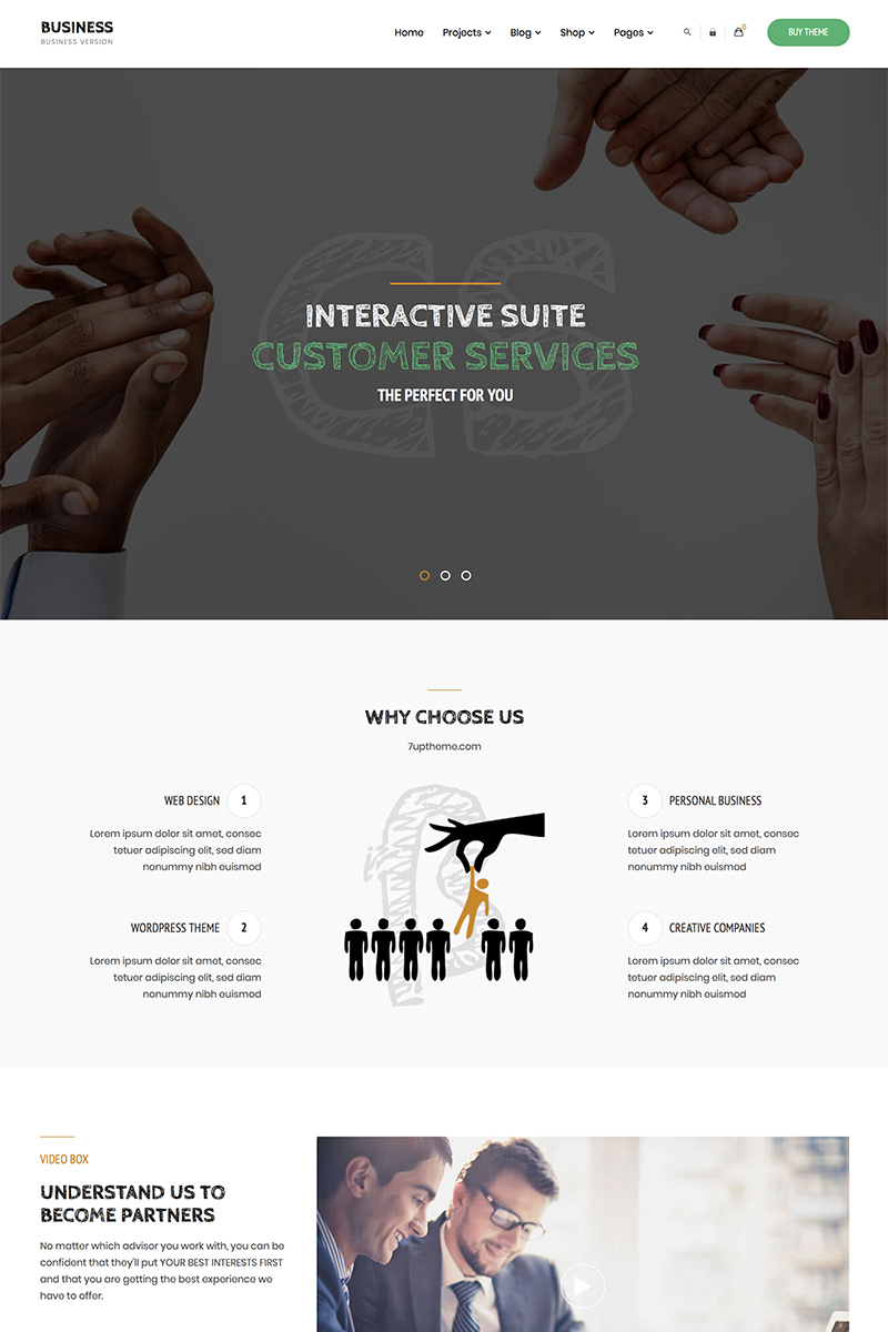 """Business - Corporate"" WordPress模板 #84158"