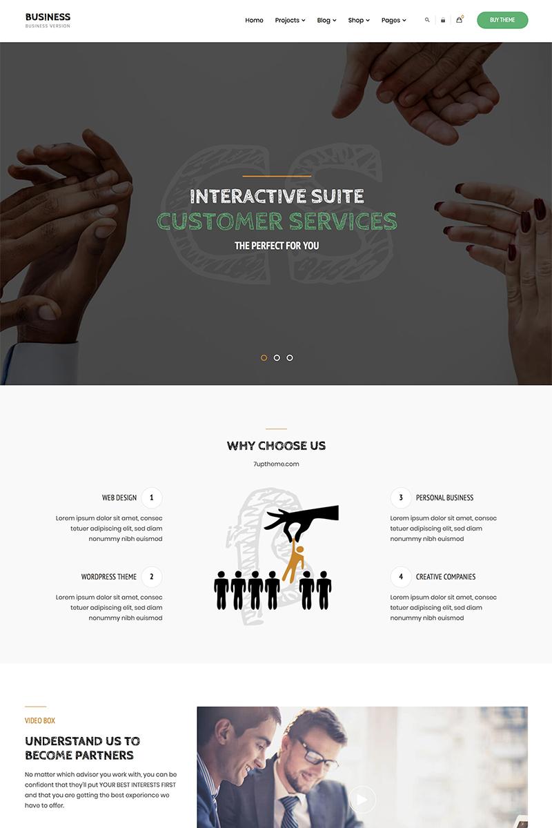 """Business - Corporate"" - WordPress шаблон №84158"