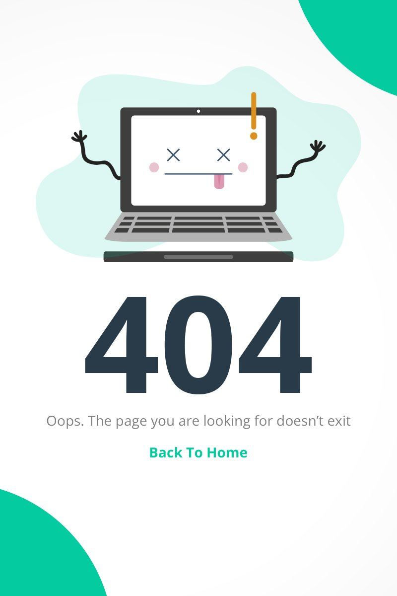 Cute 404 Error Specialty Page