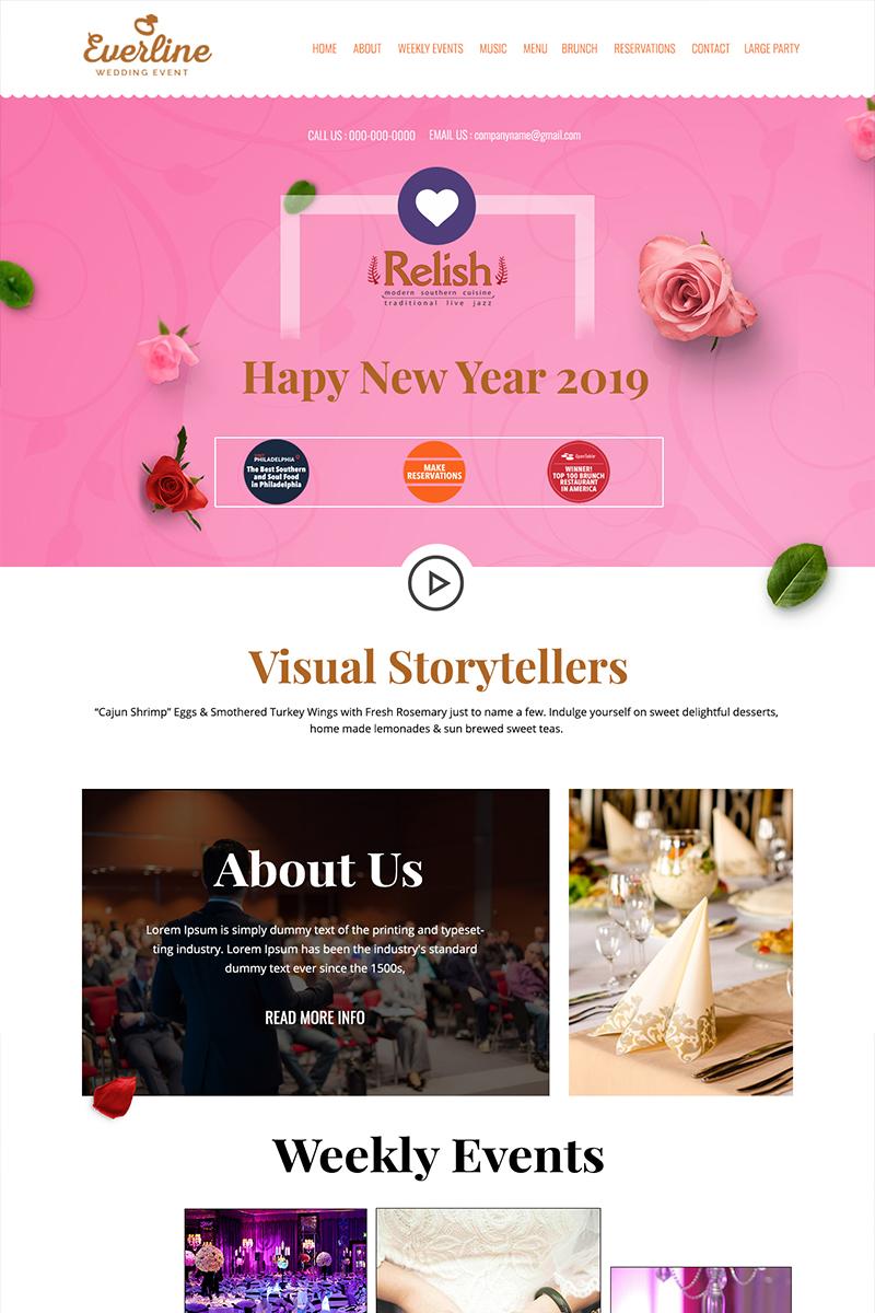 Everline - Wedding Event Management PSD Template