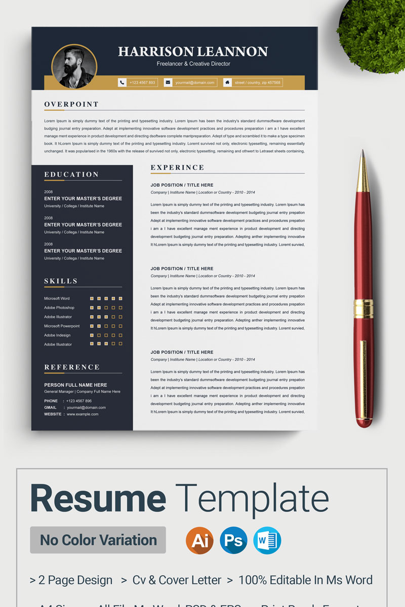 Leannon Resume Template