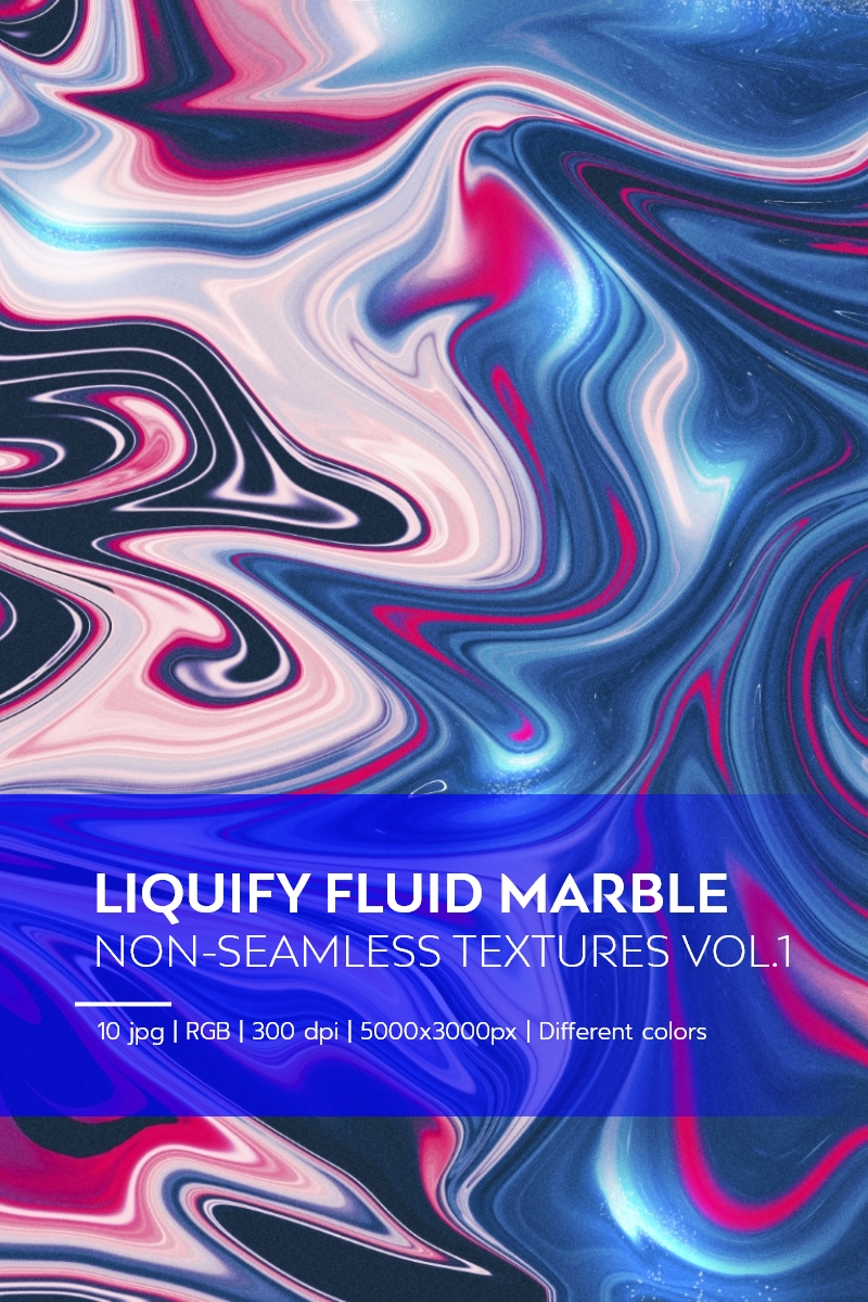 """Liquify Fluid Marble - Non-Seamless Textures Vol.1"" - Background №84154"
