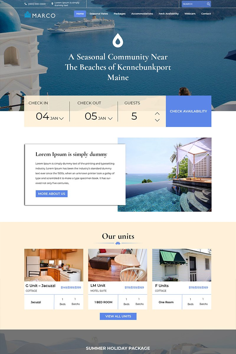 Marco - Hotel Booking PSD Template