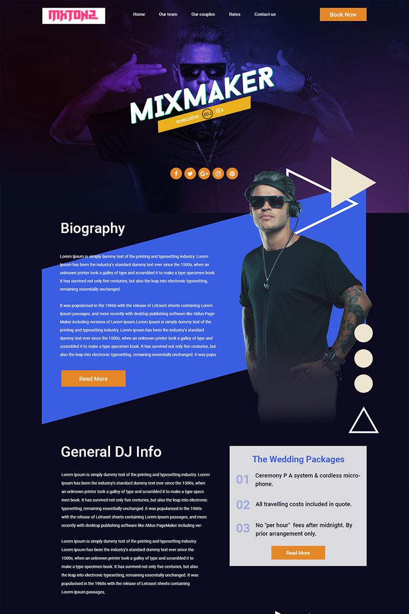MxTonz - Dj PSD Template