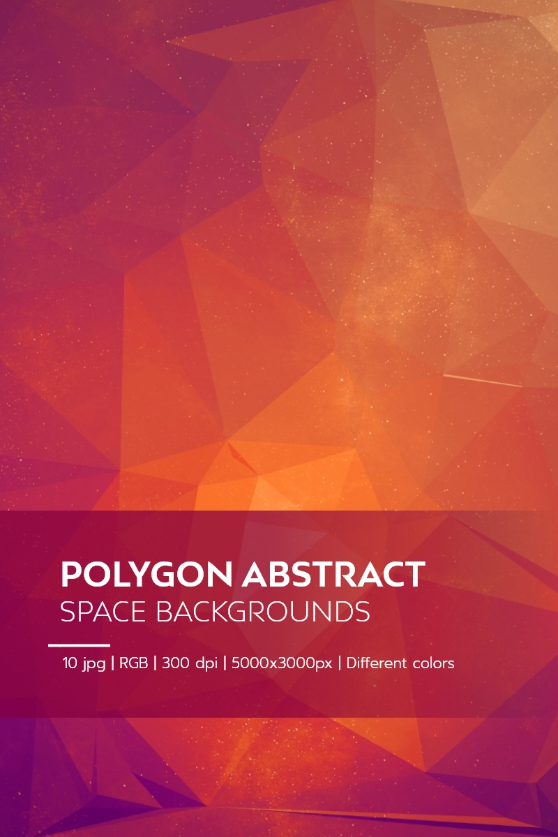 Polygon Abstract Space Backgrounds Illustration