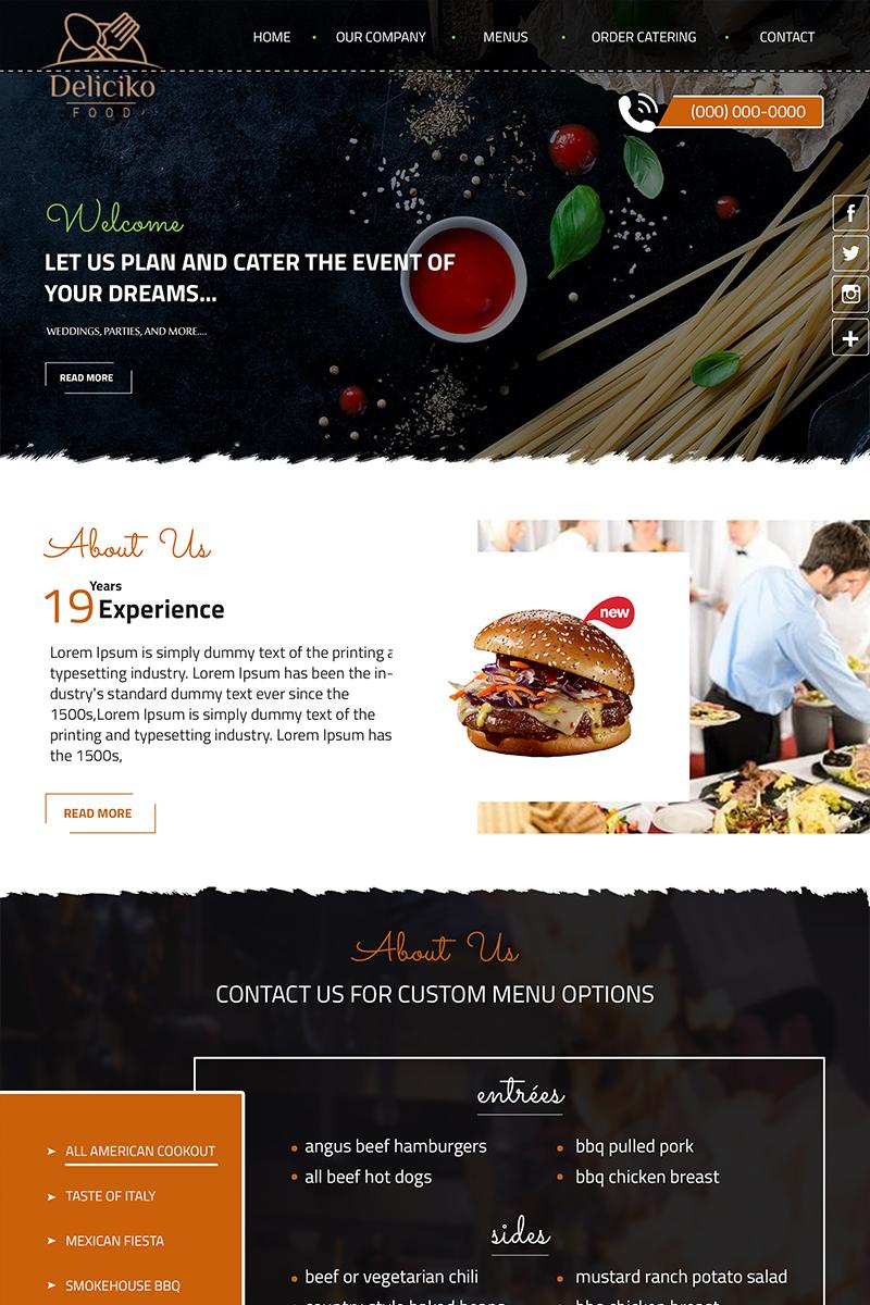 "PSD Vorlage namens ""Deliciko - Restaurant"" #84139"
