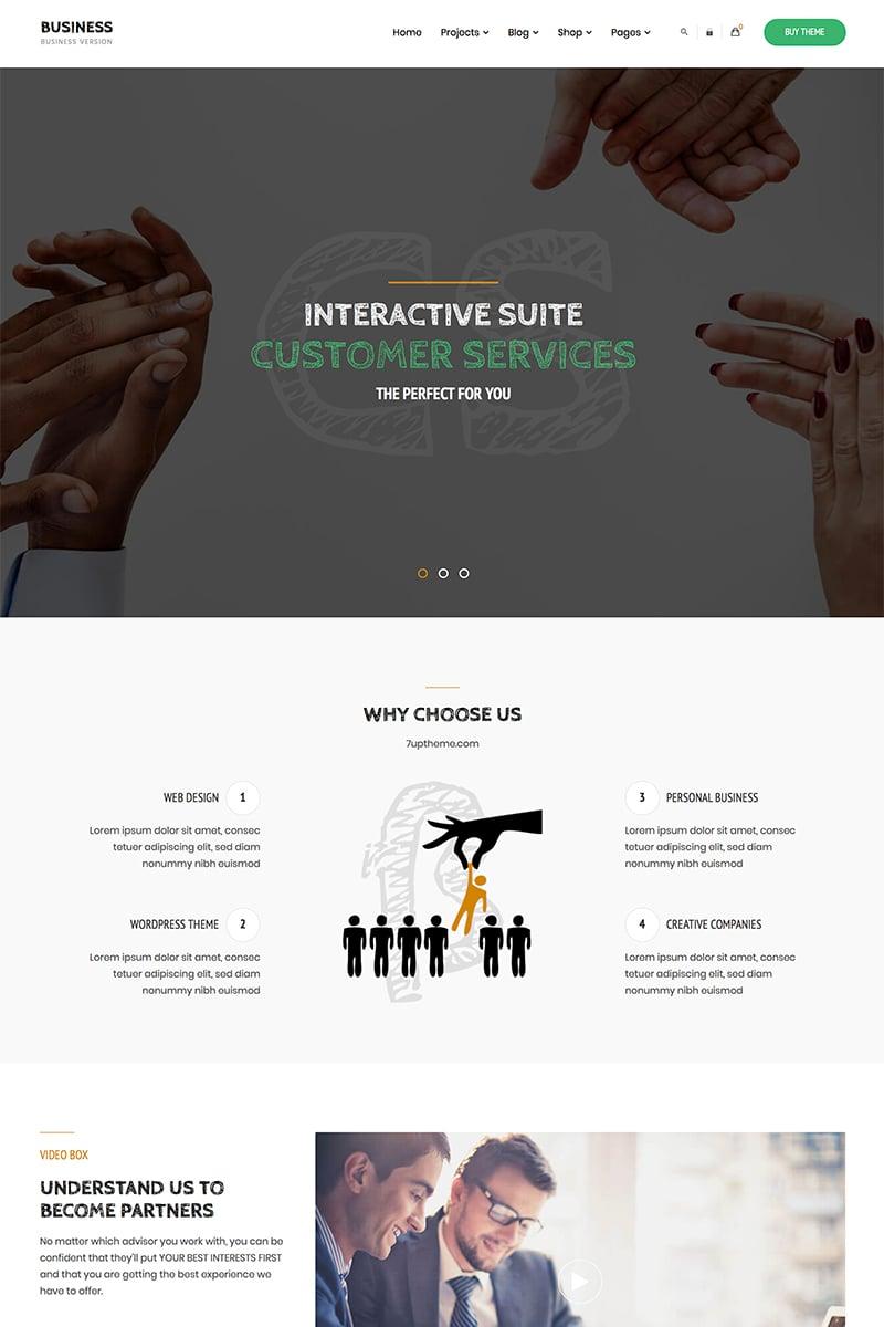 "Tema De WordPress ""Business - Corporate"" #84158 - captura de pantalla"