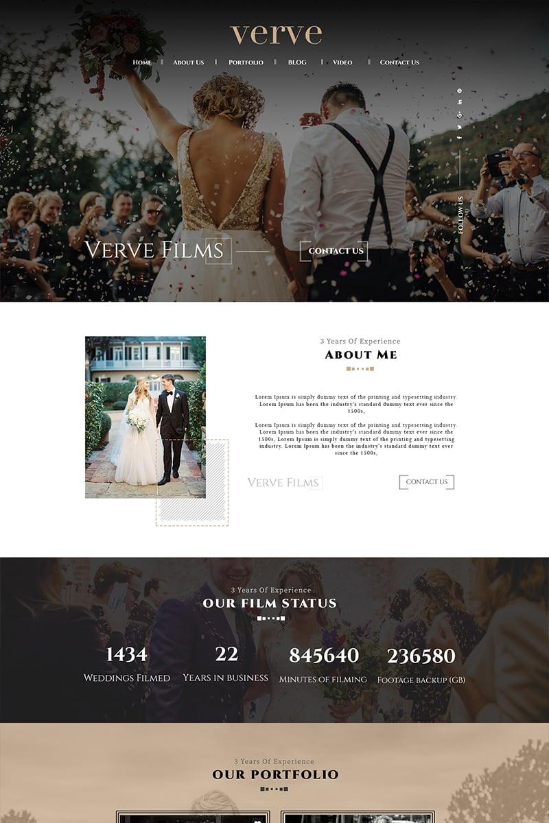 Vervefilms - Wedding Photography PSD Template