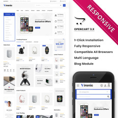 Mobile Store OpenCart Templates