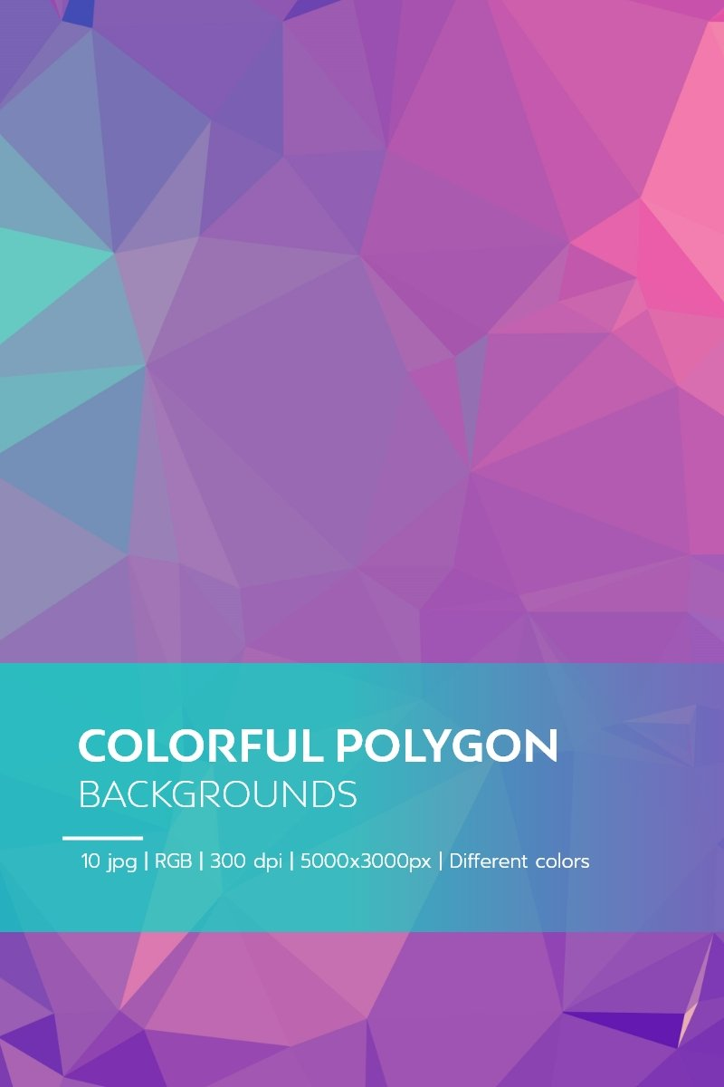 Colorful Polygon Backgrounds Background