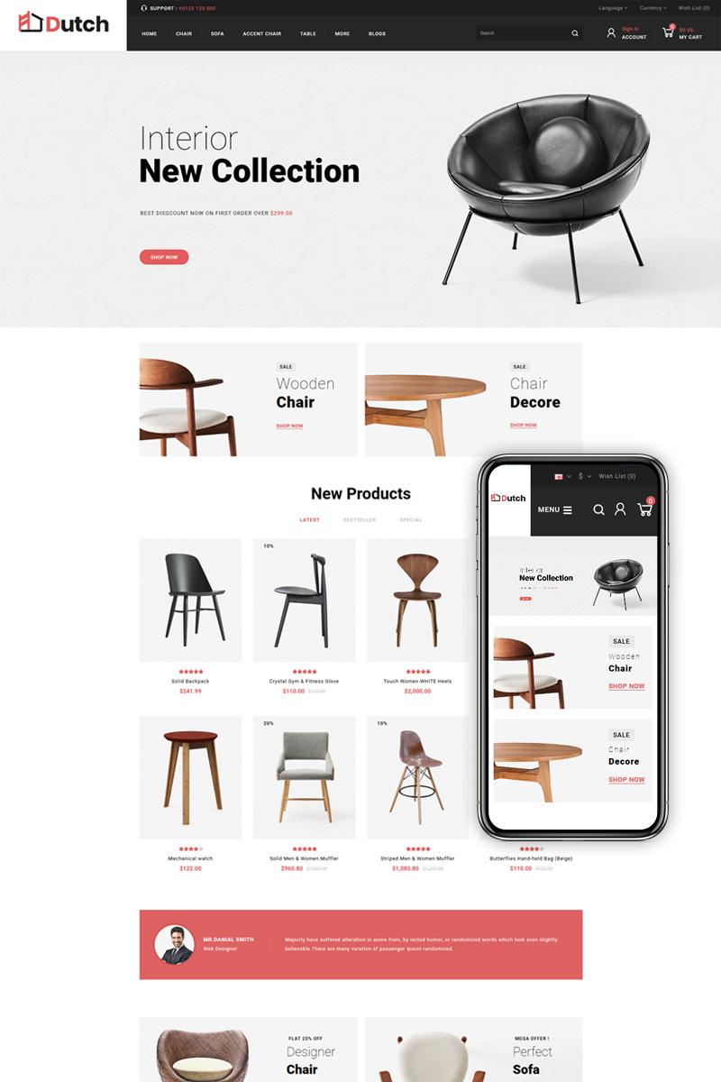 """Dutch - Furniture Store"" thème OpenCart adaptatif #84256"
