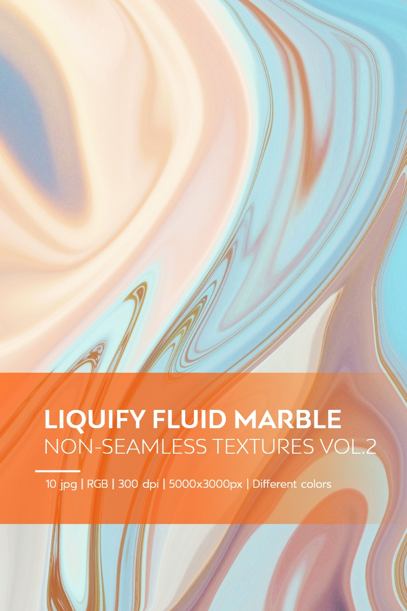 Liquify Fluid Marble - Non-Seamless Textures Vol.2 Background №84215