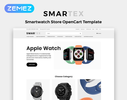 Smartex - Electronics Store Multipage Clean OpenCart Template