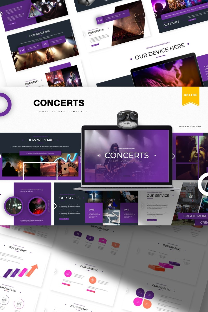 """Template Google Slides #84394 """"Concert  """" - screenshot"""