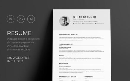 Brenner Minimal Clean Resume Template