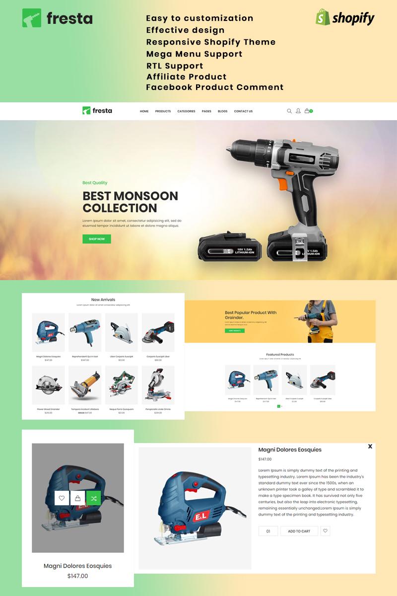 Bootstrap szablon Shopify Fresta - Grinder Tools #84446