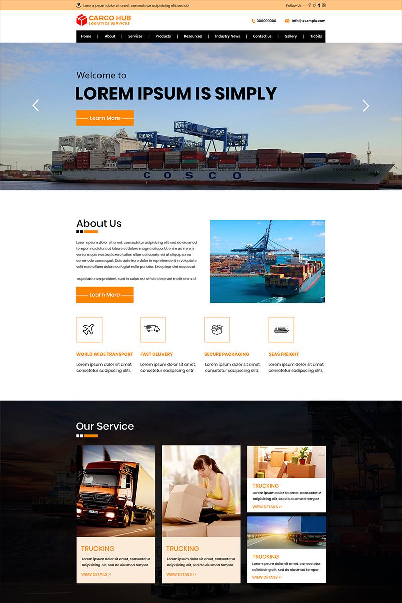 Cargo HUB - Moving Company PSD Template