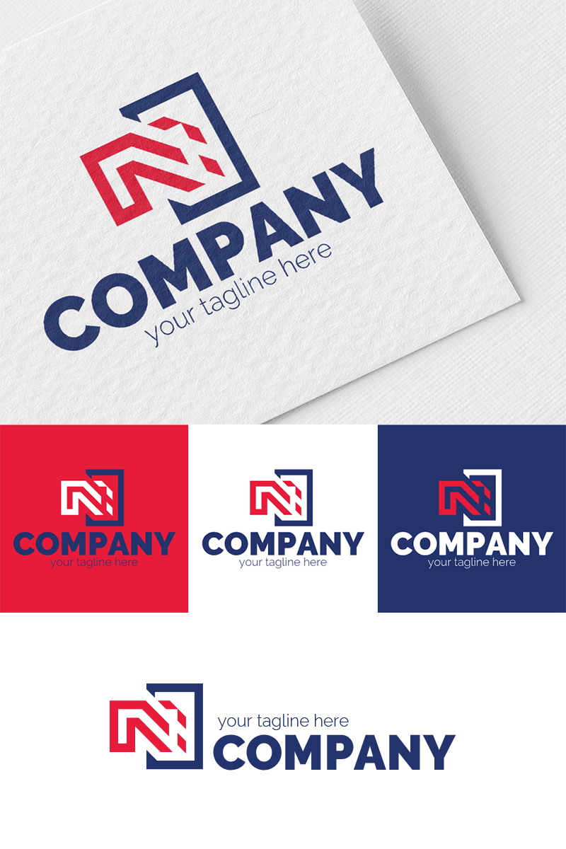 Disappearing N Logo Template