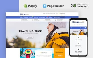 Diving Travel Accessories Store Shopify Theme