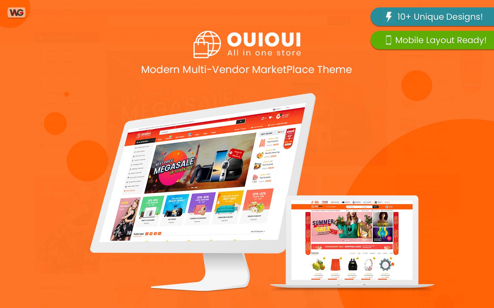 "Modello WooCommerce Responsive #84419 ""OuiOui - Multi Vendor MarketPlace Elementor"""