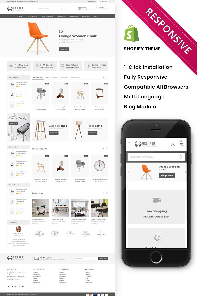 Orchard - The Furniture Store Responsive Shopify Theme - screenshot