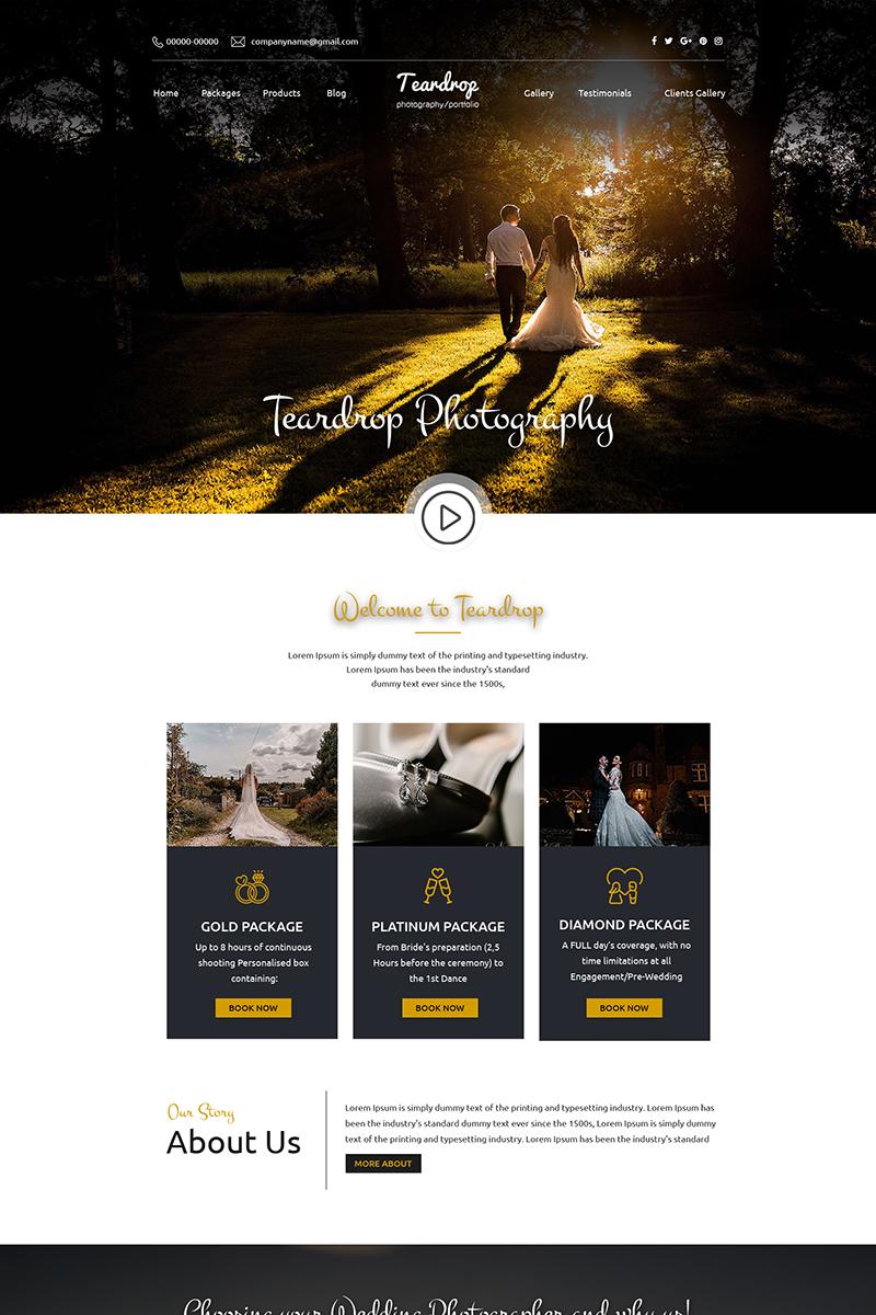 Teardrop - Wedding Photography PSD Template
