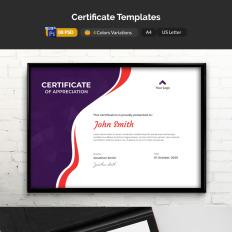 Certificate Templates | TemplateMonster