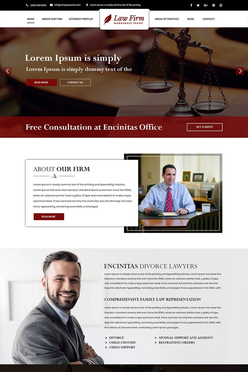 Law Firm - Law Firm PSD Template