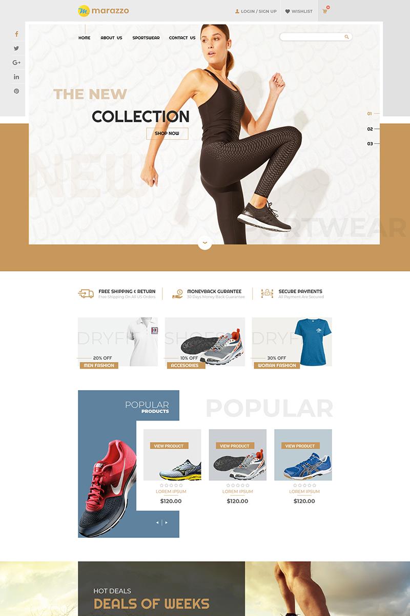 """Marazzo - Sportswear Shop"" - PSD шаблон №84594"