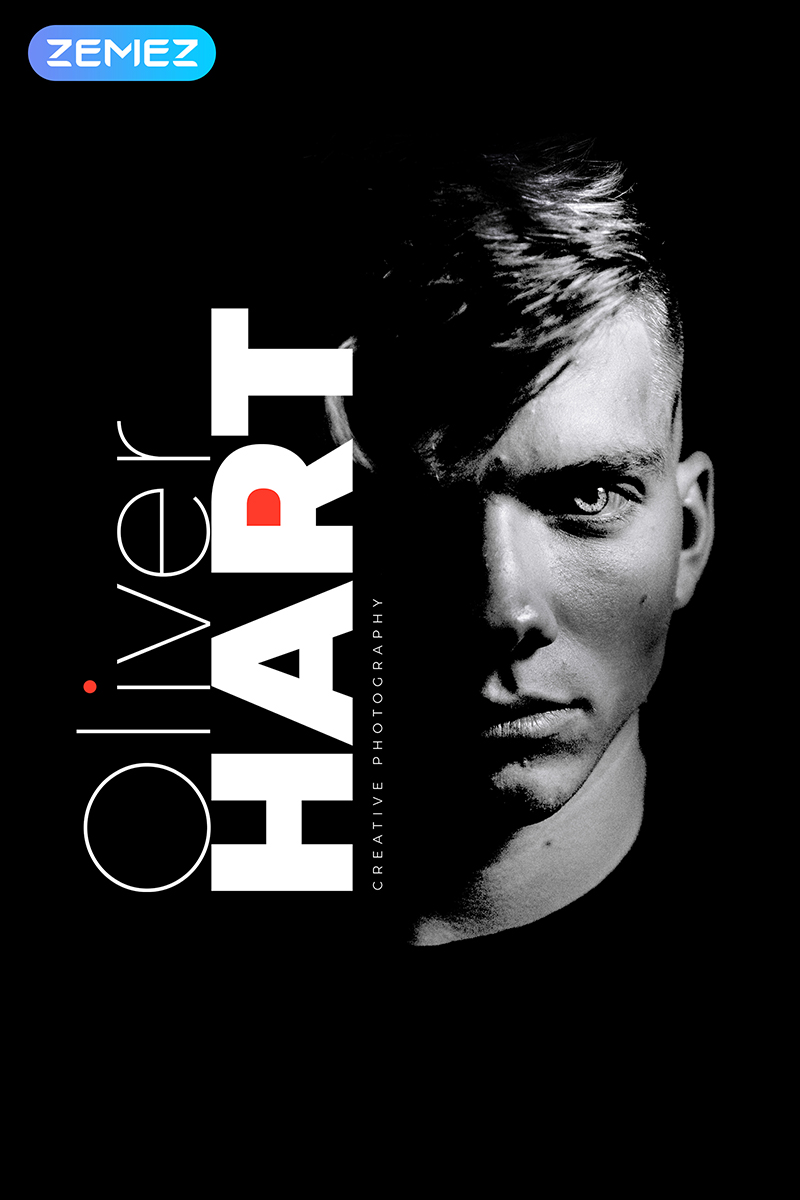 """Oliver Hart - Photographer Portfolio Multipage Stylish"" Responsive Joomla Template №84585"