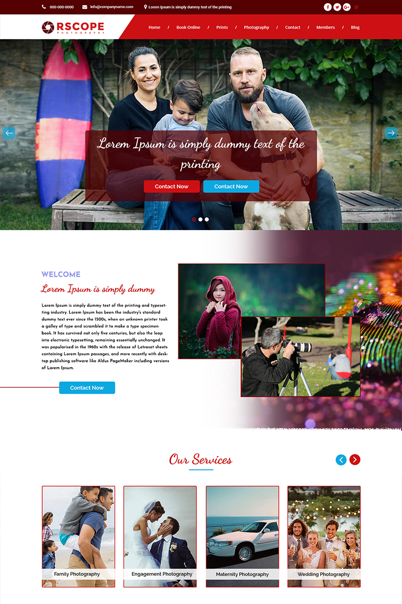 """Orscope - Photography"" PSD Template №84503"