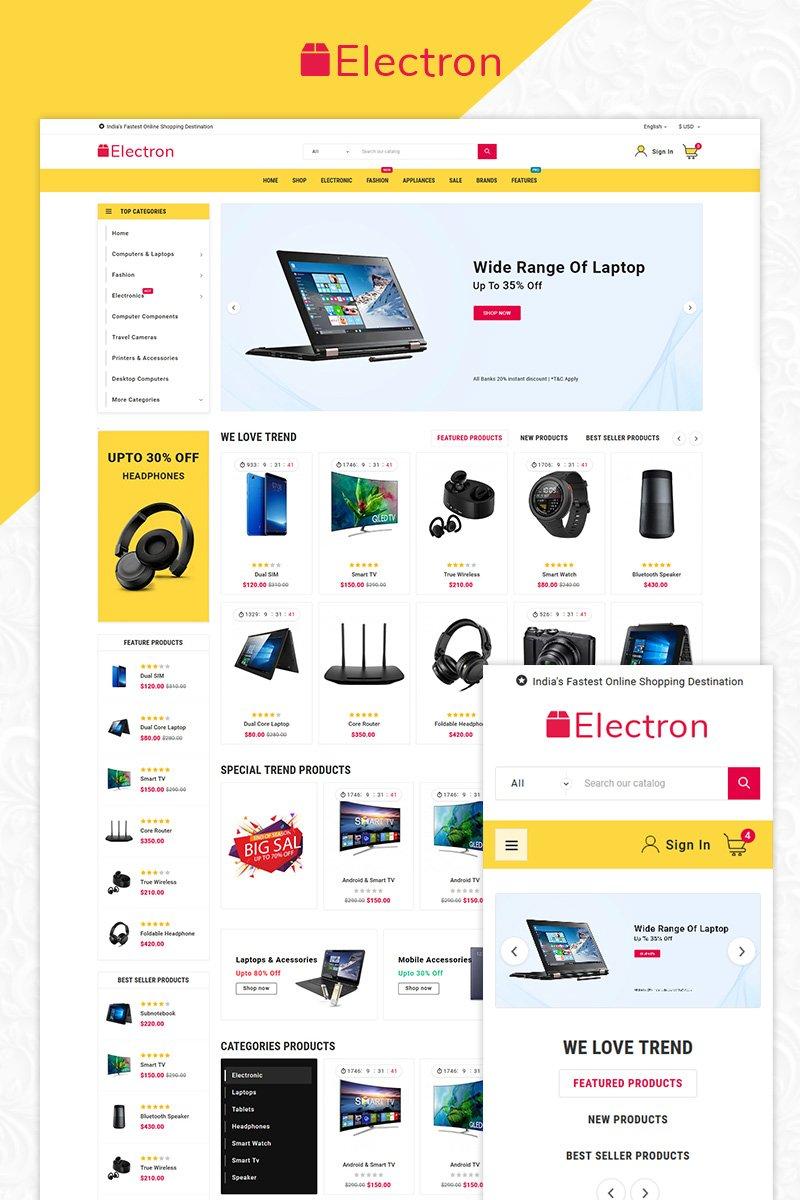Responsive Electron - Electronics Mega Store Opencart #84517
