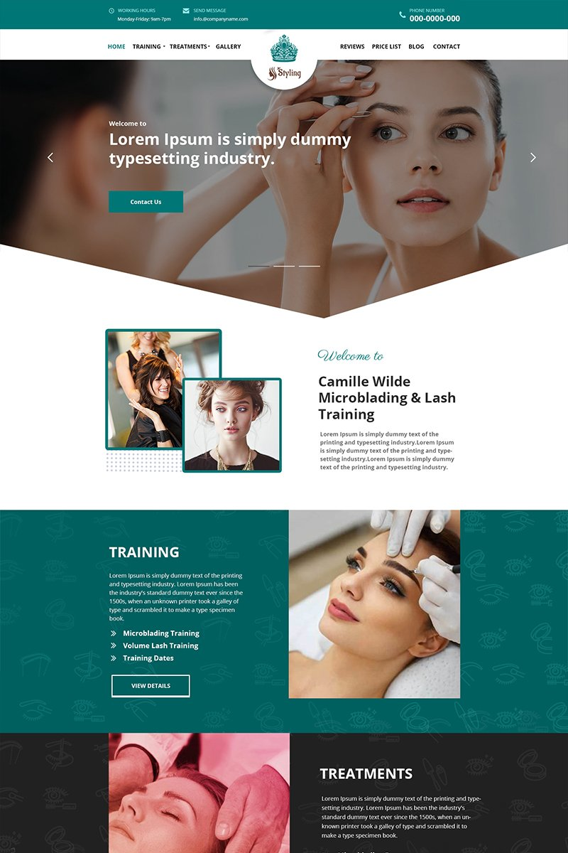 Styling - Beauty Saloon PSD Template