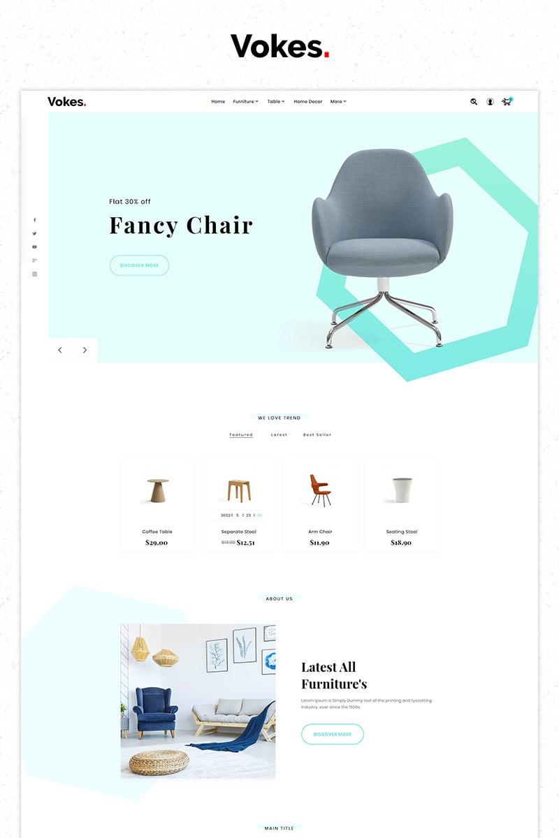 "Tema PrestaShop #84516 ""Free Vokes Furniture Store Premium"""