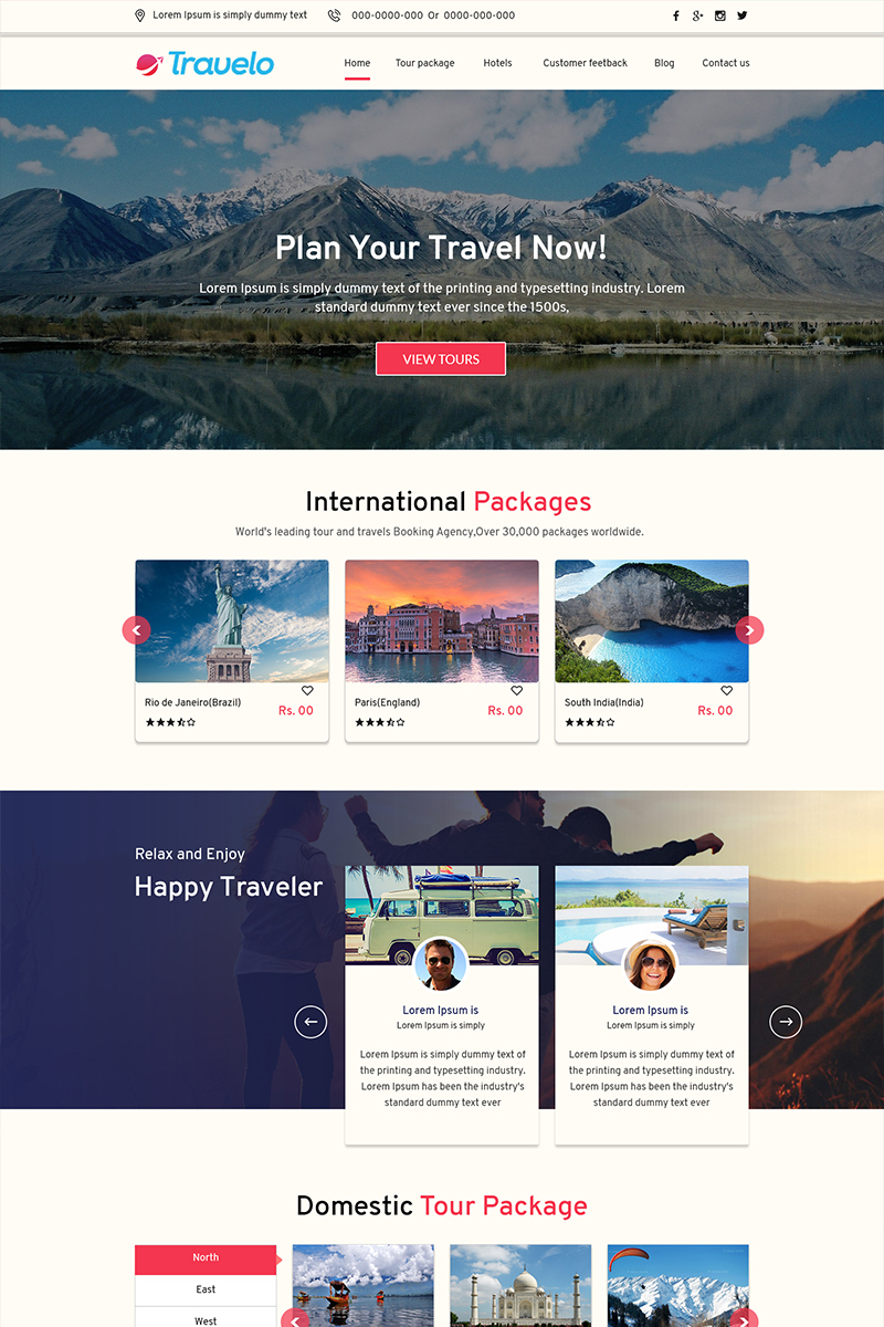 Travelo - Travel Agency PSD Template