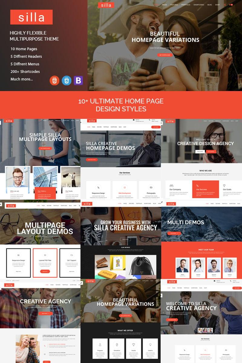 "Website Vorlage namens ""Silla - Responsive HTML5 Business"" #84557"