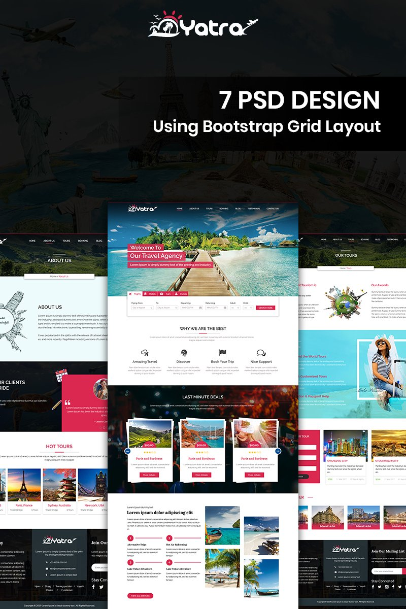 """Yatra - Travel"" PSD Template №84593"