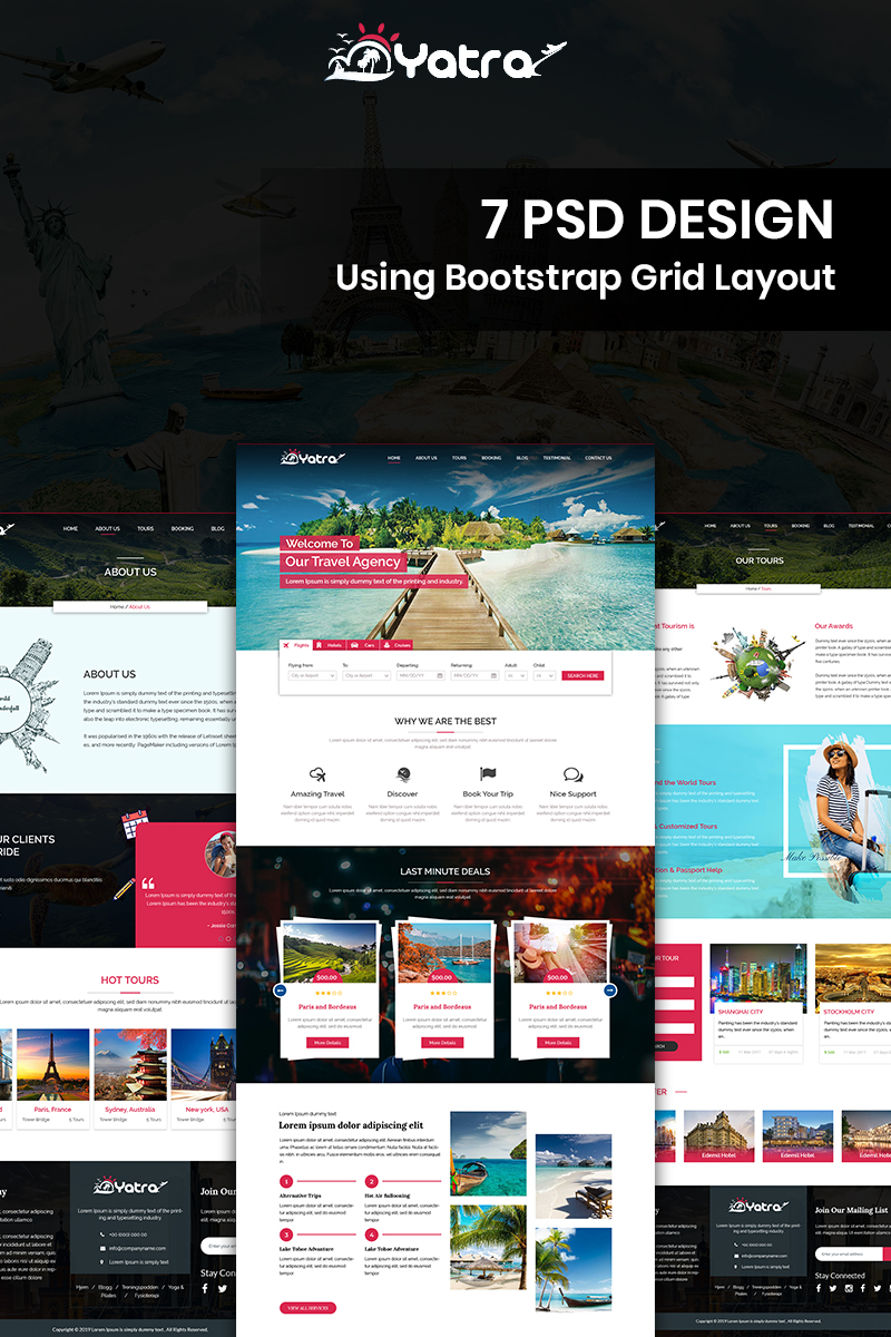 Yatra - Travel PSD Template