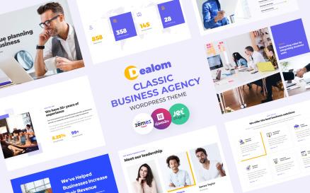 Dealom - Classic Business Agency Elementor WordPress Theme