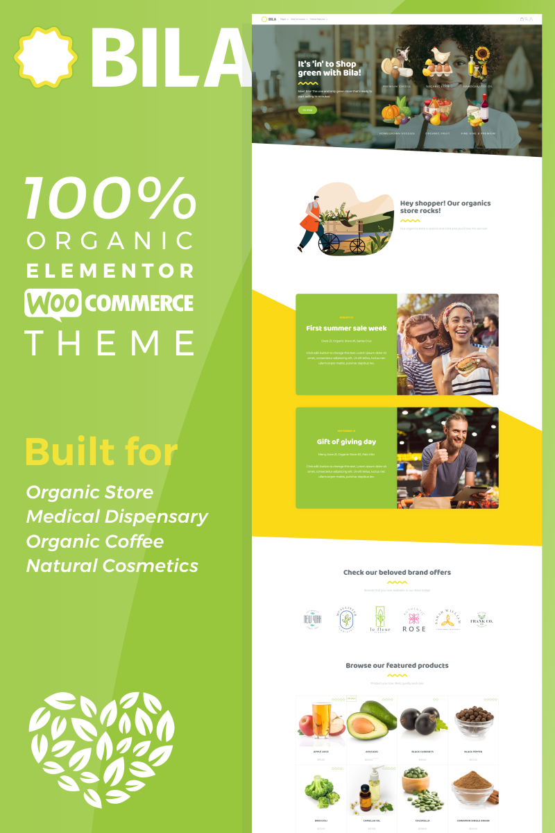 Bila - Organic Elementor WooCommerce Theme