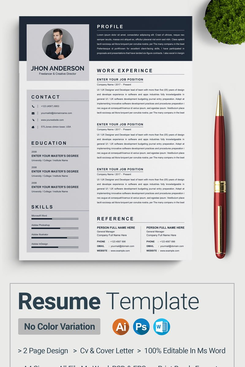 Anderson Resume Template - screenshot