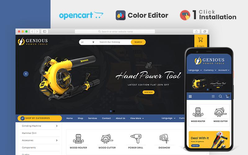 """Genious Tools"" thème OpenCart adaptatif #84685"
