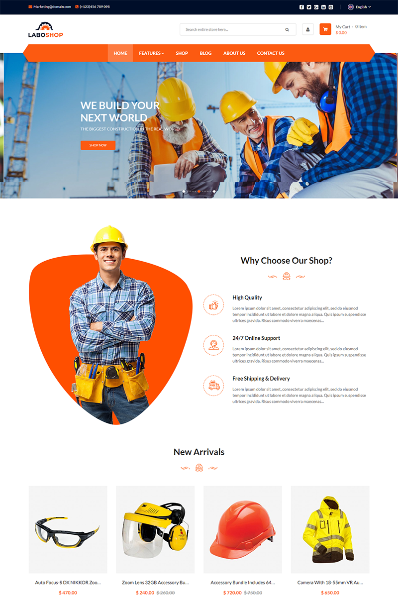 "Magento motiv ""LaboShop - Multipurpose"" #84625"