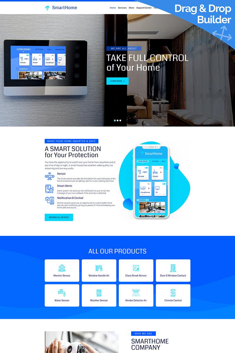 """Modello Moto CMS 3 Responsive #84608 """"Smart Home"""" - screenshot"""