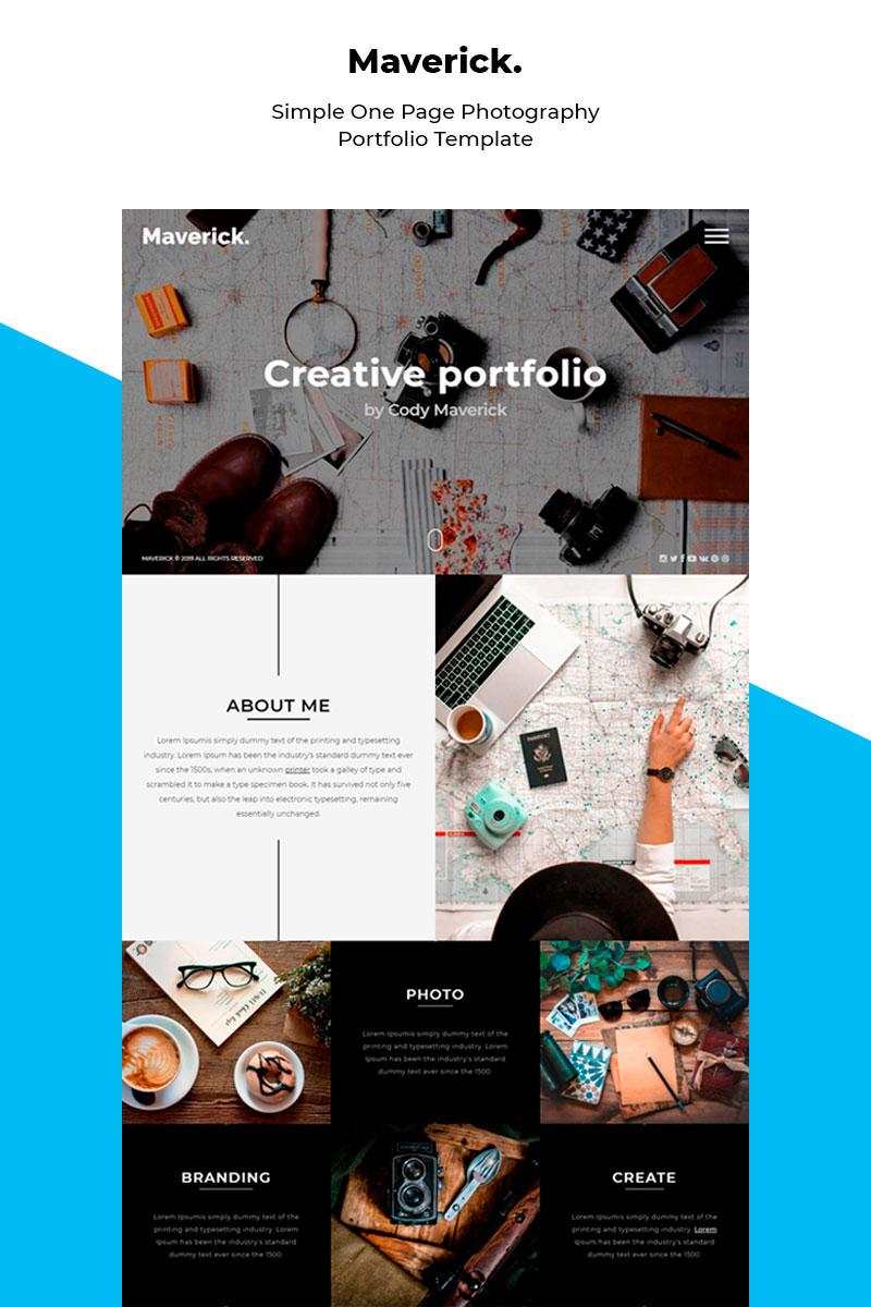 Responsywny szablon Landing Page Maverick - Responsive Photography Portfolio #84684