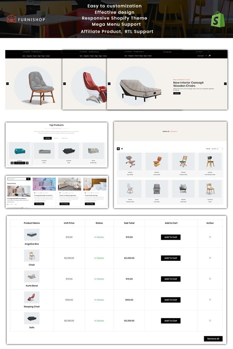 Responsywny szablon Shopify Furnishop - The Furniture #84604