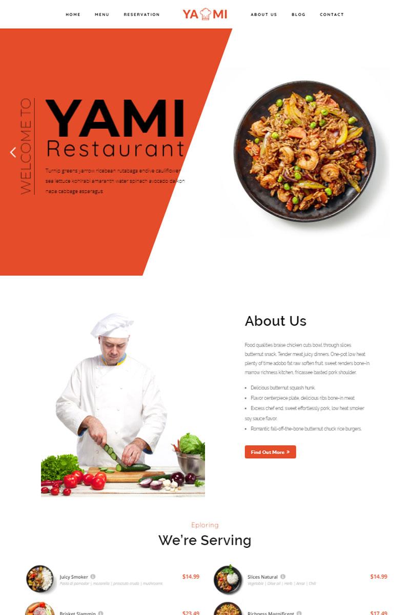 """""""Yami - Foods & Restaurant Wordpress Theme"""" WordPress thema №84655"""